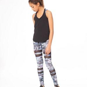 Ivivva by Lululemon Rhythmic Legging Mesh Stripe